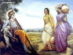 Lord Sri Krishna Paintings ~ All about India Krishna Lila, Cute Krishna, Radha Krishna Love, Shree Krishna, Radhe Krishna, Radha Radha, Baby Krishna, Radha Krishna Pictures, Lord Krishna Images