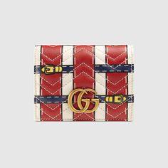 Tarjetero GG Marmont con Efecto Trompe l'Oeil