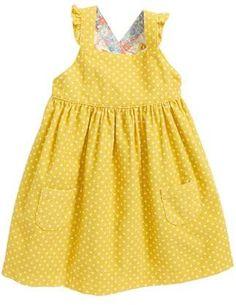Mini Boden Ruffly Corduroy Pinafore Dress