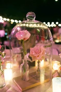 Photo from Style Me Pretty Photographer Marianne Wilson Having a Disney wedding based on Beauty and the Beast and looking for a disney wedding idea for centerpieces? While a Disney wedding isn't for e