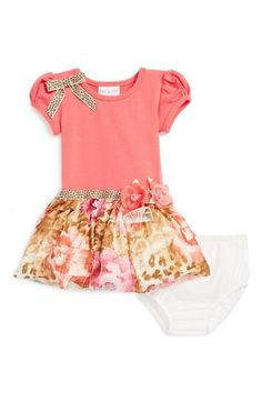Iris & Ivy Puff Sleeve Dress & Bloomers (Baby Girls) | Nordstrom