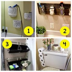 Small and low cost - Baños Ideas Para Organizar, Small Bathroom, Bathroom Ideas, Bathroom Medicine Cabinet, Sweet Home, Storage, Furniture, Home Decor, Small Houses