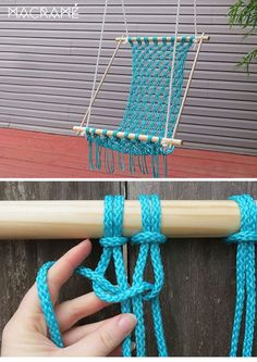 Haz tus propias hamacas DIY con la técnica de macrame, en forma de silla o de cama con palets, do it yourself and chill out!