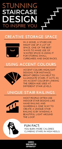 There are innumerable ways on how to design staircase at home. In a home design, a staircase might use up a lot of space. One of the best ways to make use of wasted space is for storage purpose. Use of vibrant colours is another addition.