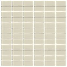 Interceramic Glassique Putty Glass Mosaic Square Indoor/Outdoor Wall Tile (Common: 12-in x 12-in; Actual: 11.81-in x 11.81-in)