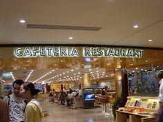 Rotulo letras corporeas retroiluminadas con neon cafeteria restaurant el corte ingles plaza cataluña