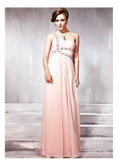 Elegant Chiffon & Satin A-line One Shoulder Prom Dress P2450 Prom Dress