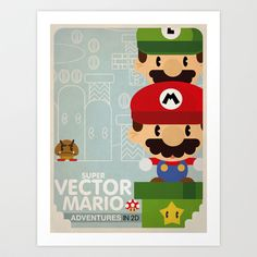 Buy mario bros 2 fan art by Danvinci as a high quality Art Print. Worldwide shipping available at Society6.com. Just one of millions of products available.