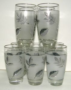 Libbey Silver Foliage 10 oz. Beverage Tumblers - Set of 10. If I remember right, these were packed in boxes of washing powder. I remember towels being packed that way too. Momma had these glasses and lots of the towels.