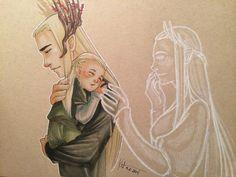 Трандуил, Леголас и дух королевы Мирквуда