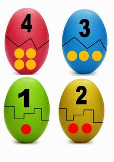 jeux de numération Counting Activities, Easter Activities, Spring Activities, Montessori Math, Kindergarten Math, Preschool Activities, Teaching Kids, Kids Learning, Easter Photo Frames