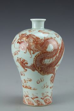 Marked Old China Dynasty Enamel Wucai porcelain Fish Wealth Lucky Snuff bottle