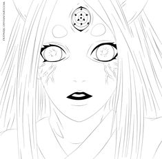 Naruto 681 - Kaguya Lineart by DudnxJC on DeviantArt