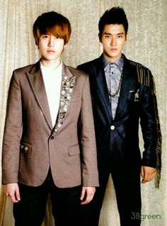 Cho Kyu-Hyun (조규현) and Choi Si-won (최시원) of Super Junior. #KPop