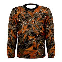 Intricate Abstract Print Men's Long Sleeve T-shirt
