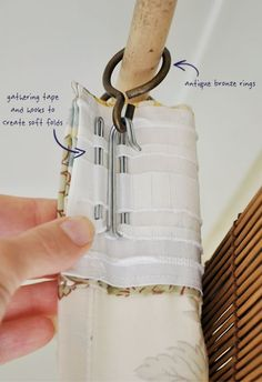 DIY Curtains with IKEA Gathering Tape and Hooks   The Painted Hive: