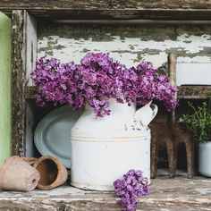 Lilac Party Part I, Keeping With the Times, Chippy Potting Bench