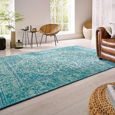 Luxmi Palais Turquoise szőnyeg - Paisley Home Rugs In Living Room, Home And Living, Living Room Decor, Dining Room, Turquoise Rug, Chenille, Rectangular Rugs, Cool Chairs, Room Themes