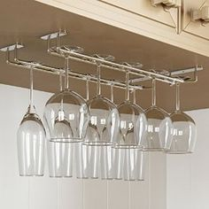 Amazon.com: Stemware Glass Rack ,Chrome Finish Wine Glass Hanger Under Cabinet Storage for Bar or Kitchen by Rack and Hook: Kitchen & Dining