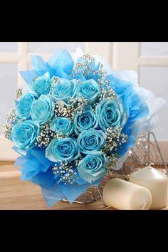 Sky blue bouquet