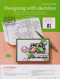 Stamps Paper Happiness: In Review: Designing with Sketches--Love Birds
