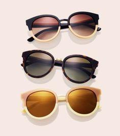 Panama Sunglasses   Womens Sunglasses & Eyewear   ToryBurch.com --like the two tone ones on the top--aw--
