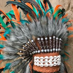 Adult Native American Red Indian Big Tribal Headdress Feather Hat Hot Gift