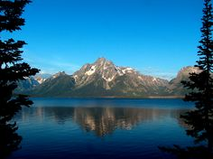 Grand Teton National Park, Wyoming...Visited in 1998...we took a long boat ride by the mountains and saw an eagle and its nest