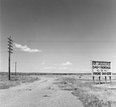 Eden, Colorado roadside sign, ca. Black and white photo by Robert Adams. History Of Photography, Digital Photography, Fine Art Photography, Street Photography, Landscape Photography, Photography Lessons, Stephen Shore, Walker Evans, Edward Weston