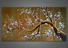 Hand Painted in oil on canvas - Stretched on 1 '' wood frame - ready to hang Dimensions: 60'' W x 32'' H