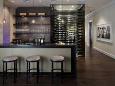 mdoern wine room | MICHAEL MOLTHAN LUXURY HOMES INTERIOR DESIGN GROUP modern-wine-cellar