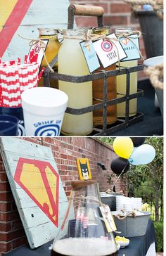 Rustic Modern Superhero Party {+ Clever DIY Photo Booth}
