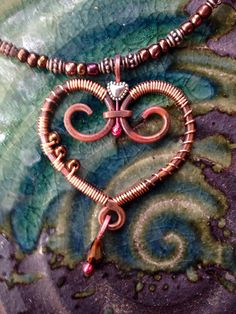 The Open Heart. Handmade Copper. by Traebetruedesign on Etsy