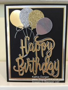 The challenge from Just Us Girls is to bring on the shine. Well since I love bling and shine I was ready for this! I used the Happy Birthday Gorgeous bundle and lots of layers :-) . This is a gre… Bday Cards, Birthday Cards For Men, Masculine Birthday Cards, Masculine Cards, Happy Birthday Gorgeous, Homemade Birthday Cards, Homemade Cards For Men, Birthday Greetings, Birthday Wishes