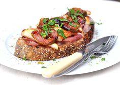 Fig Toast With Chilli Halloumi & Parma Ham Recipe