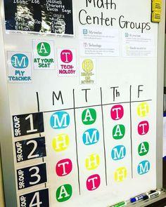 Group rotation chart (image only) Fourth Grade Math, 3rd Grade Classroom, Second Grade Math, Math Classroom, Grade 2, Future Classroom, Classroom Ideas, Grade 6 Math, Math Center Rotations