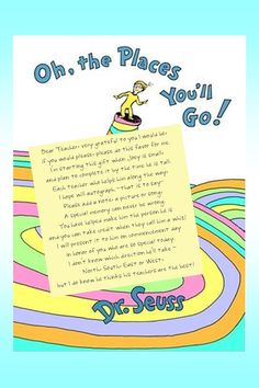 oh the places you'll go... autographed by all the teachers