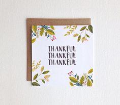 Thank you/ Thanksgiving Card
