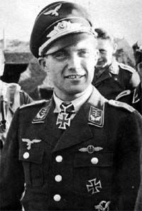 Hauptmann Franz Xaver Baron von Werra (13 July 1914 – 25 October 1941) flying ace shot down over Britain and captured. Only Axis prisoner of war to succeed in escaping from Canadian custody and returning to Germany. Killed during a practice flight. Knight's Cross of the Iron Cross on 14 December 1940 as Oberleutnant Adjutant of the II./Jagdgeschwader 3