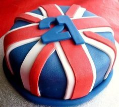 Union Jack Cakes and Cupcakes Union Jack Cake, London Cake, Fondant, 21st Birthday, Birthday Cakes, Cake Makers, Celebration Cakes, Themed Cakes, No Bake Cake