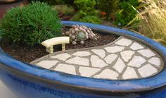 Finished Miniature Patio Garden
