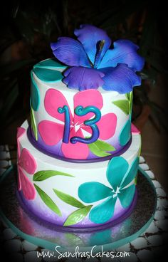 Luau Sheet Cake Ideas | Posted by Sandra's Cakes at 11:20 PM