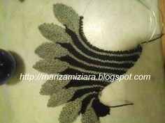 marizamiziara: xale de tricô com folhas