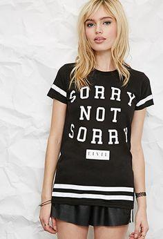 Civil Regime Sorry Not Sorry Tee | Forever 21 - 2049257302