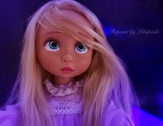 Repaint ook custom animator doll rapunzel animator's collection animator tangled raiponce toddler poupee disney store limited edition repaints pikipook background