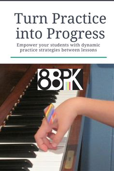What happens between lessons is THE most important part of progress made at piano lessons. Here are a whole bunch of dynamic tools to help your students thrive at the keys.