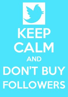 ... and stop buying followers.