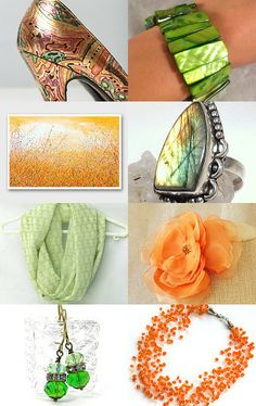 Luscious Lime and Tangy Tangerine! Colors I love! on Etsy :)