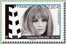 Françoise Dorléac 1942-1967 Les acteurs de cinéma - Timbre de 2012