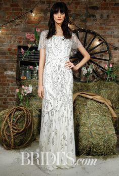Brides.com: Jenny Packham - Spring 2017 Wedding dress by Jenny PackhamPhoto: Luca Tombolini / Indigitalimages.com